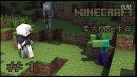 【南柯实况】我的世界 Minecraft 考古mod生存 #1 平凡之路
