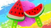 白雪玩具屋 2016 西瓜冰棍美味冰淇淋冰棍 面包超人培乐多DIY 492