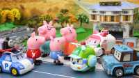 小猪佩奇玩具视频 2016 小猪佩奇被外星人绑架 猪爸爸猪妈妈好着急 怎么办呢 09