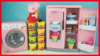 开心时刻与玩具介绍 2016 小猪佩奇能做冰淇淋的玩具冰箱 91