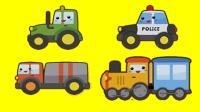 119消防车 120救护车 110警车 工程车 交通工具 水果蔬菜 亲子拼图小游戏