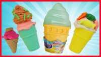 培乐多冰淇淋彩泥玩具,冰棒冰糕甜点蛋糕橡皮泥过家家,爱探险的朵拉芭比娃娃海底小纵队超级飞侠