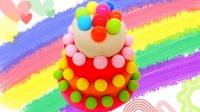 白雪玩具屋 2016 彩色糖果千层蛋糕 熊出没熊大DIY 519