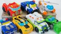 视频: 救援机器人玩具 变形金刚玩具 擎天柱玩具 救护车 垃圾车玩具 Transformers Rescue Bots Toys