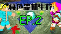 ★我的世界★暮色森林双人生存【电磁X小虾】EP.2 我们的树屋