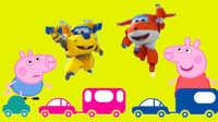 超级飞侠粉红猪小妹小猪佩奇乔治一起玩汽车总动员玩具 喜羊羊 托马斯和他的朋友们 汽车总动员 愤怒的小鸟 熊出没 小马宝莉面包超人 白雪公主 超级飞侠 猪猪侠