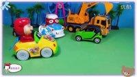 粉红猪小妹的红色跑车速度真快!海绵宝宝都害怕了呢!汽车总动员玩具车小小智慧树爆笑虫子斗龙战士巧虎来啦