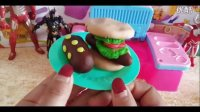 【彩泥DIY合集】培乐多黏土梦幻手工制作 面包汉堡饼干过家家游戏玩具Peppa Pig 粉红猪小妹
