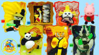 熊猫功夫大会 功夫熊猫  阿宝 天煞 娇虎 熊猫美美 粉红猪小妹 佩奇可爱人偶玩具
