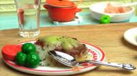 番茄奶酪牛肉饭-日本食玩-万代迷你厨房 047