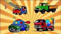 赛车总动员工程车货车吊车乐高玩具车小汽车欧力海底小纵队总动员超级飞侠赛尔号变形警车珀利亲子游戏