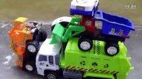 飞燕传媒 玩具车王国 垃圾车装载机警车 玩具总动员 赛车总动员 儿童玩具试玩测评