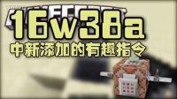 【Bread出品】16w38a中新添加的有趣指令丨Minecraft我的世界小课堂