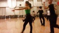 天津舞蹈学校晚自习拉丁舞练习恰恰舞