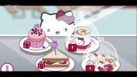 凯蒂猫的早餐店 披萨汉堡蛋糕 过家家小游戏