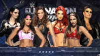 WWE女子密室铁笼淘汰赛!尼基贝拉vs斯蒂芬妮vs佩