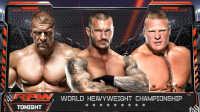 WWE三重威胁赛!兰迪奥顿vs布洛克莱斯纳vs王中之