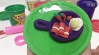 玩具视频 橡皮泥手工制作 培根煎蛋锅 亲子游戏