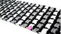 黑白灰长方格围巾 25