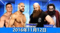 【中文解说】WWE2016年11月12日怀特家族双打赛!埃