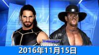【中文解说】WWE2016年11月15日赛斯罗林斯vs送葬者