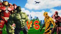 【XY小源GTA5】MOD疯狂大乱斗 反浩克 绿巨人VS闪电侠 逆闪电