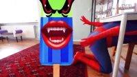 爱莎皮卡丘蜘蛛侠搞笑游泳 绿巨人被卡通超人超女捉弄