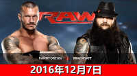 WWE2016年12月7日任意地点压制赛!兰迪奥顿vs布雷