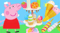 白雪玩具屋 2016 小猪佩奇的新玩具冰淇淋超市 828