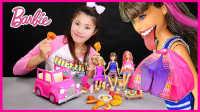 芭比娃娃露营六角帐篷;美味烧烤儿童玩具手工DIY组装试玩#欢乐迪士尼#