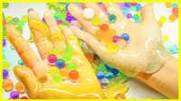 手工DIY透明水晶水舞珠珠粘土 儿童创意手工制作试玩#欢乐迪士尼#