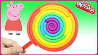 3分钟自制超美的彩虹棒棒糖 培乐多彩泥手工DIY小动物儿童创意手工制作教学#彩虹乐园#