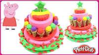 手工DIY玩具工厂冰淇淋蛋糕;小猪佩奇的培乐多彩泥粘土蛋糕!#彩虹乐园#