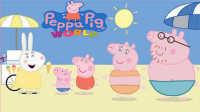 粉红猪小妹纸小猪佩琪回忆录,佩琪一家海滩度假,一家四口的温馨时刻
