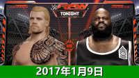 【中文解说】WWE2017年1月9日战神vs马克亨利-佰威