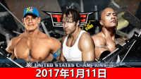 WWE三重威胁全美冠军梯子赛!迪安布罗斯vs约翰塞