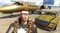 亚当熊 GTA5线上ol联机土豪人生08私人飞机豹纹装全套 侠盗飞车