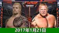 WWE2017年1月21日战神vs布洛克莱斯纳-佰威解说WWE