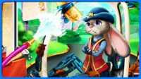 《 疯狂动物城》兔子朱迪修理警车  我的世界 模拟经营游戏 手机游戏 玩具视频