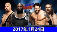 【中文解说】WWE2017年1月24日双打淘汰赛!韦德巴