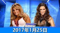 【中文解说】WWE2017年1月25日崔西vs斯蒂芬妮-佰威