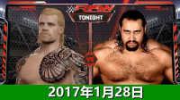 WWE战神vs鲁瑟夫-WWE2017年1月28日佰威解说WWE2K16生涯