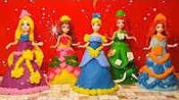 玩具娃娃魔幻变装秀  自制培乐多芭比公主裙婚纱裙抹胸长裙