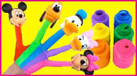 米老鼠和唐老鸭家族玩具试玩;手工DIY彩虹手掌贴玩具!小猪佩奇熊出没 #彩虹乐园#