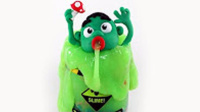 橡皮泥定格动画片小绿巨人中毒了