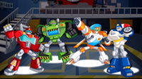 变形金刚:救援机器人第9期 雪山救援 打败机器人