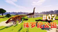 【甜萝酱我的世界MC实况】侏罗纪公园多模组生存Ep.7 远古恐龙科研记之打磨恐龙骸骨提取DNA(获得100%伶盗龙光盘) Minecraft