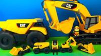 挖土机玩具视频 勾机玩具视频 大挖掘机.