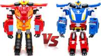 变形金刚之救援汽车人 十一星改变野兽2 幻影雷VS火焰之星神车&卡车对接改造 玩具变形金刚