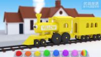 幼儿英语启蒙 美国学前教育和小火车学习8种颜色.mp4